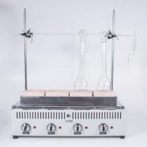 Kjeldahl Bateria de extracción 4 det Tecnodalvo