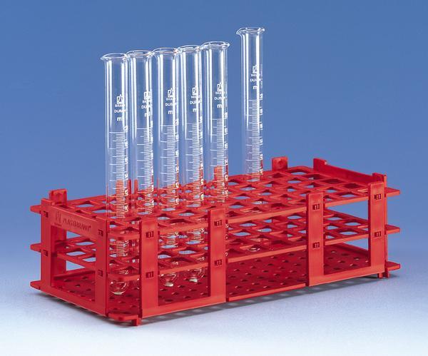 Gradilla plastica para 90 tubos de 12 mm Importada.