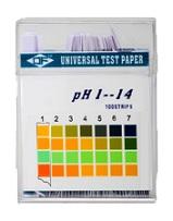 Papel indicador de pH 1-14. 3 colores. 100 tiras Origen China