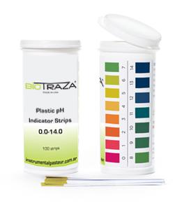 Papel indicador de pH 0-14 x 100 tiras Biotraza