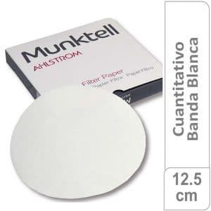 Papel de filtro cuantitativo 00M Banda Blanca Filtración Media Rápida12.50 cm 100 ud Munktell