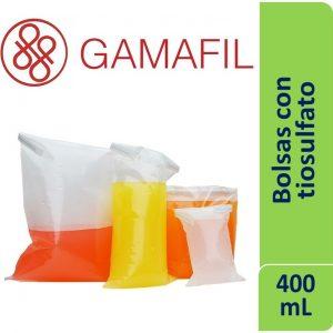 Bolsas ESTERILES con 30 mg de tiosulfato de sodio. de 400ml, 14 x 19 cm x 100 ud Gamafil