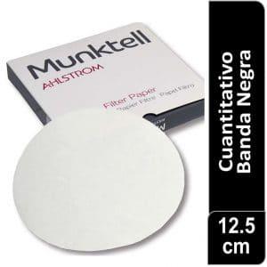 Papel de filtro cuantitativo 00R Banda Negra Filtracion rápida 12.50 cm 100 ud Munktell