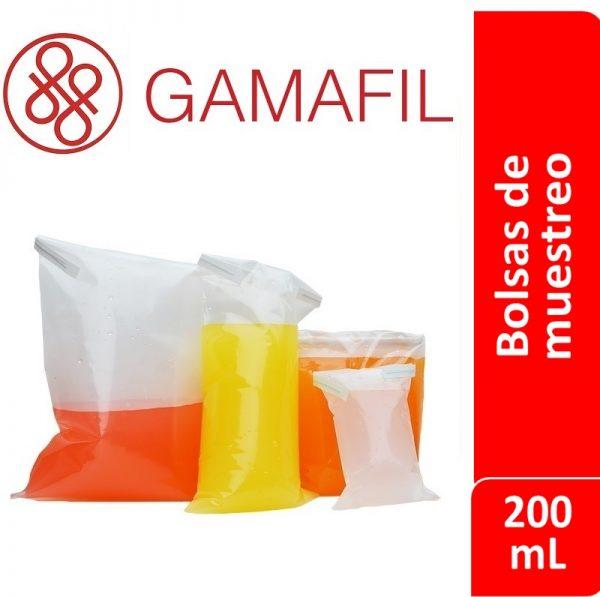 Bolsas para muestreo esteriles 200 ml 100 ud Gamafil