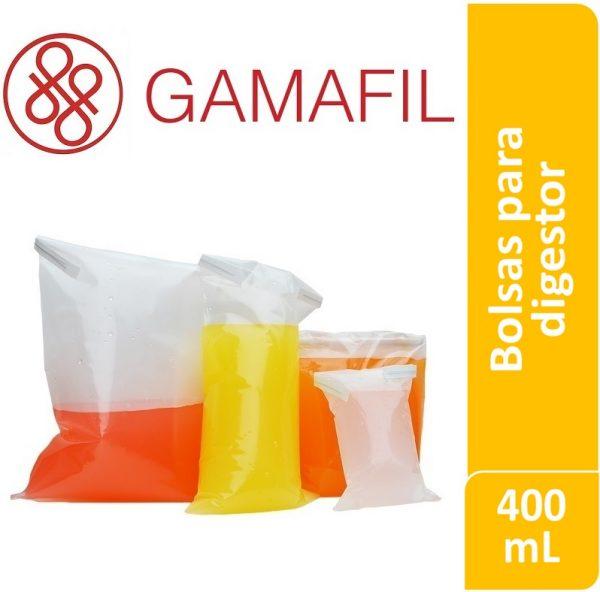 Bolsas para digestor 400 ml. 14 x 19 cm CON cierre espesor 100 um 100 ud Gamafil