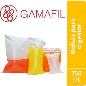 Bolsas para digestor 750 ml. 14 x 29 cm CON cierre x 100 ud Gamafil