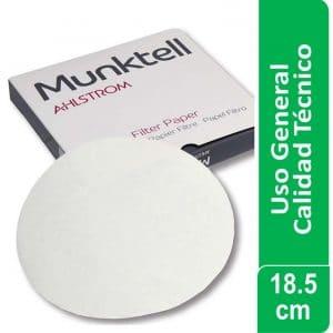 Papel de filtro Calidad Técnico – Análisis de azúcar Código 3 W 18.50 cm Pack x 1000 ud Munktell