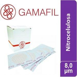 Membranas NITROCELULOSA. blancas lisas, no estériles de 8,00 um – 47 mm 100 ud Gamafil