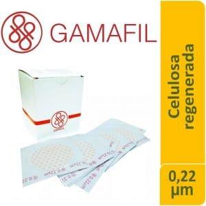 Membranas Celulosa Regenerada blancas lisas no estériles de 0.22 um 25 mm 100 ud Gamafil