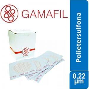 Membranas POLIETERSULFONA. blancas lisas, no estériles de 0,22 um – 293 mm x 25 ud Gamafil