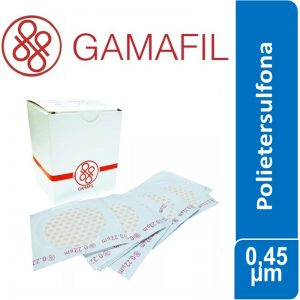 Membranas POLIETERSULFONA. blancas lisas, no estériles de 0,45 um – 13 mm x 100 ud Gamafil