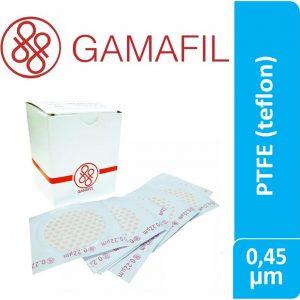 Membranas PTFE (Teflon) blancas lisas no estériles de 0.45 um 47 mm 100 ud Gamafil
