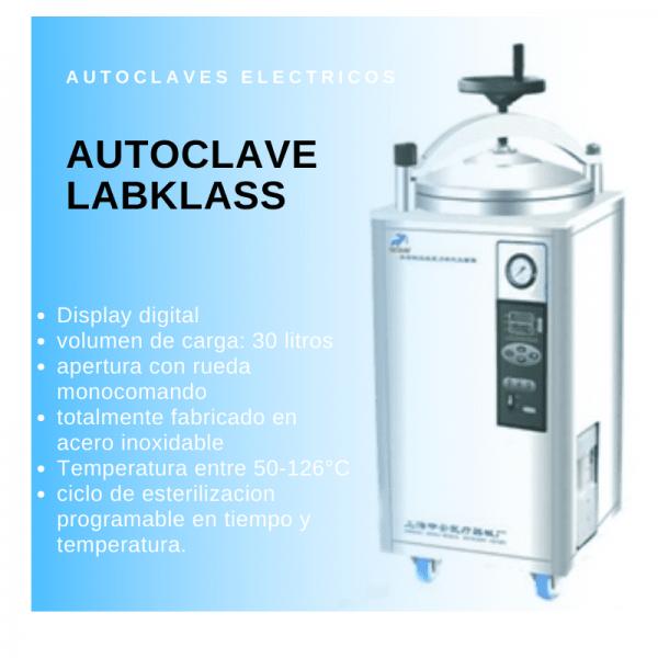 Autoclave vertical Labklass LDZX-30KBS Electrica Digital 30 Litros