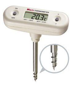Termometro tipo pinche para alimentos duros o congelados c/vaina tipo rosca -50ºC a + 150ºC importado