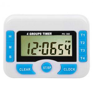 Timer digital 100 hs 4 alarmas: tiempo de conteo 99h. 59m y 59s con 4 alarmas diferentes e independientes importado