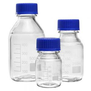 Frasco autoclavable tipo Schott 1000 ml tapa azul Origen China