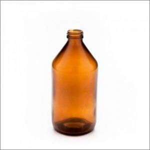 Botella vidrio color caramelo tapa rosca 500 mL de capacidad