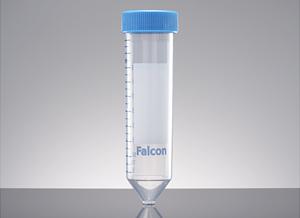 Tubos cónicos estériles graduados de 50 ml. de polipropileno de alta transparencia, con tapa a rosca y gradilla c/u Falcon