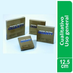 Papel de filtro cualitativo (uso general) Paquetes x 100 hojas de 125 mm. Ø JP (Brasil)