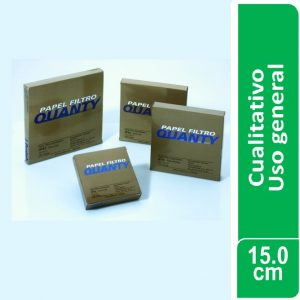 Papel de filtro cualitativo (uso general) Paquetes x 100 hojas de 150 mm. Ø JP (Brasil)