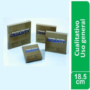 Papel de filtro cualitativo (uso general) Paquetes x 100 hojas de 185 mm. Ø JP (Brasil)