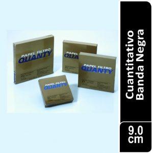 Papel de filtro cuantitativo. filtrado rápido, JP 41 Banda Negra Cajas originales x 100 hojas, 90 mm. Ø JP (Brasil)