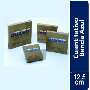 Papel de filtro cuantitativo. filtrado lento, JP 42 Banda Azul Cajas originales x 100 hojas, 125 mm. Ø JP (Brasil)