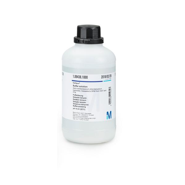 Solución tampón pH 10.00 trazable a SRM de NIST y PTB  (20°C) CertiPUR 1000 ml Merck