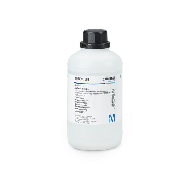 Solución tampón pH 7.00 (20°C) trazable a SRM de NIST y PTB  CertiPUR 1000 ml Merck