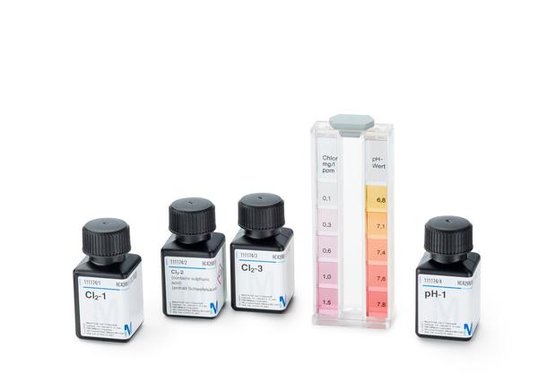 Test Cloro libre. total y pH colorimétrico 0.1-1.5 mg/l Cl2pH 6.8-7.8 Mcolortest Merck