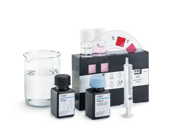 Test Cloro Libre DPD 0.1-2.0 mg/l Cl2 con comparador de disco giratorio Mcolortest 600 tests Merck