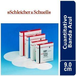 Papel de filtro cuantitativo. filtrado lento, Nº 589-3 Banda Azul Cajas originales x 100 hojas, 90 mm Ø SCHLEICHER & SCHUELL