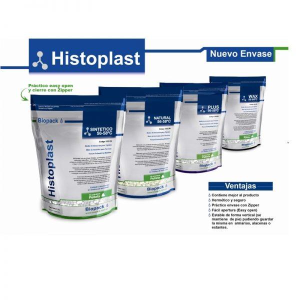 HISTOPLAST® PLUS (c/DMSO) PF 56-58 ºC (Parafina Modificada en Pellets Blancos) 1 000 g Biopack